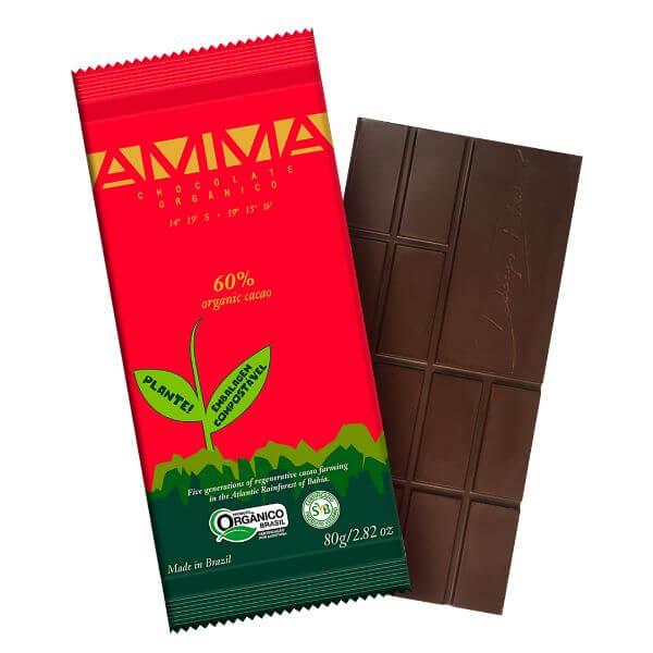 Chocolate Orgânico 60% Cacau  80gr - Amma