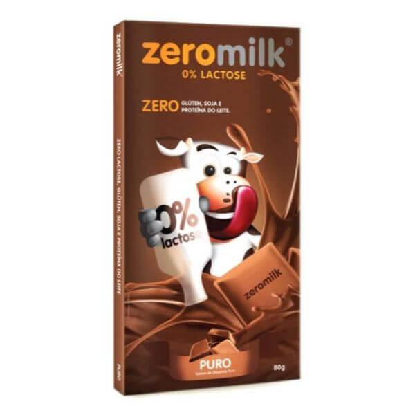 Chocolate Sem Leite Puro 80gr - Zeromilk