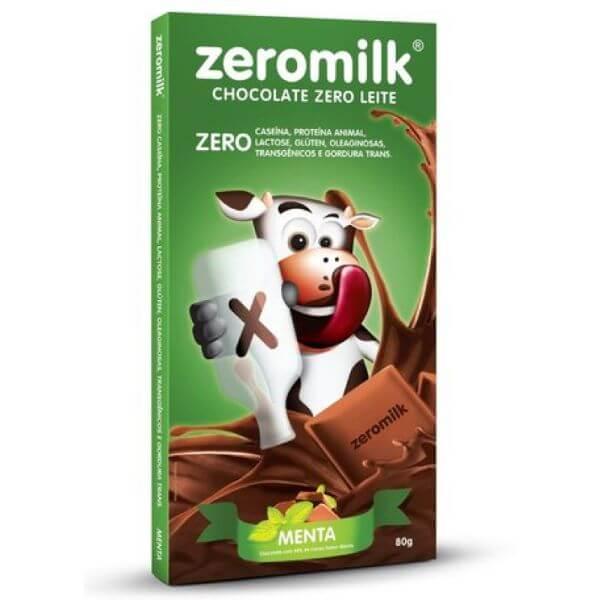 Chocolate Sem Leite Sabor Menta 80gr - Zeromilk