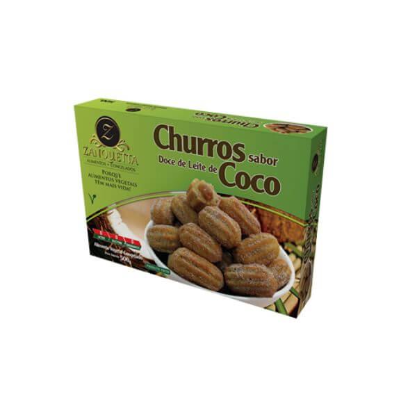 Churros Doce De Leite De Coco Vegetal 300gr - Zanqueta