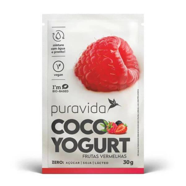 Coco Yogurt Frutas Vermelhas Sachê 30gr - Pura Vida