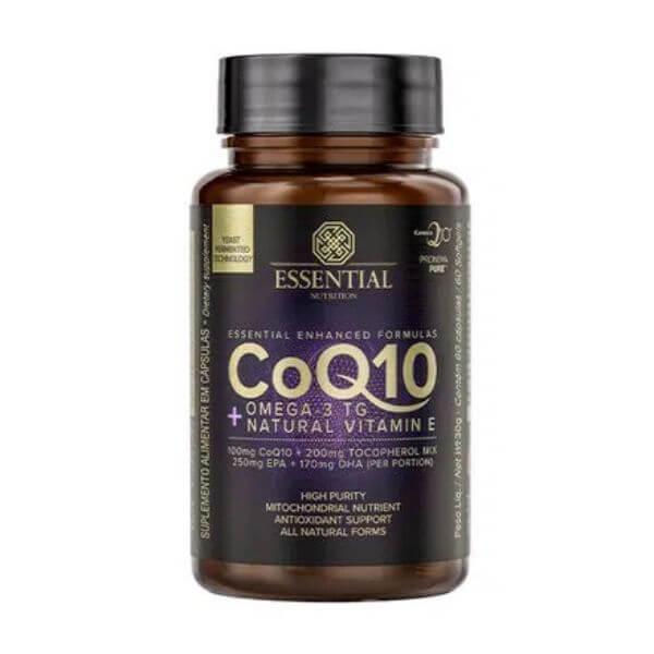 Coezima Q10 + Omega 3 TG e Vitamina E 60 cápsulas - Essential Nutrition