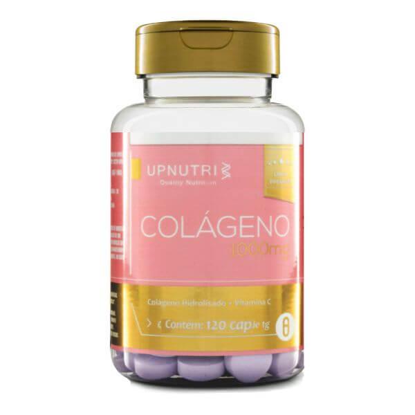 Colágeno Hidrolisado Com Vitamina C 120 Cápsulas De 1000mg - Upnutri