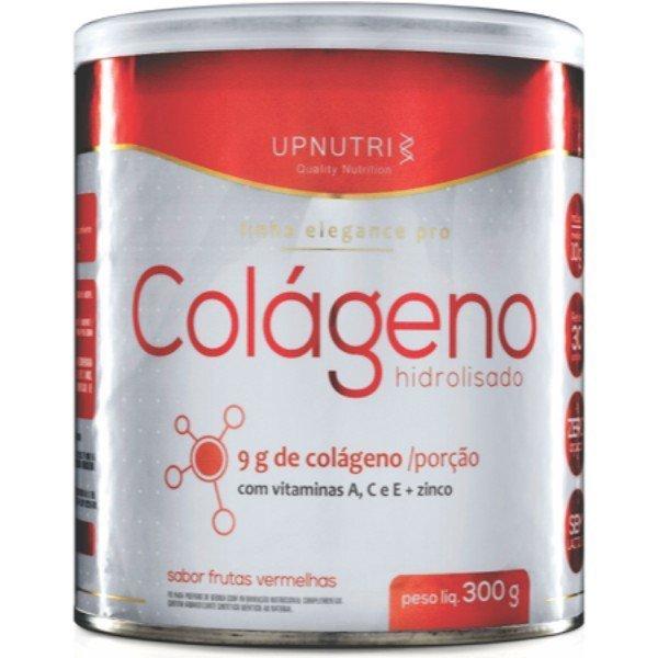 Colágeno Hidrolisado Em Pó Sabor Frutas Vermelhas 300gr - Upnutri