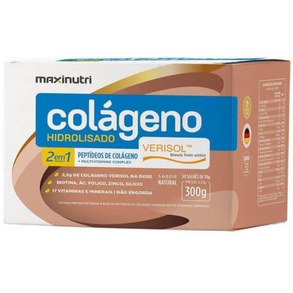 Colageno Hidrolisado Verisol 30 Sachês De 10gr  - Maxinutri