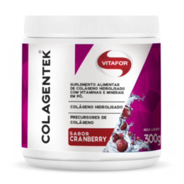 Colagentek Sabor Cranberry 300gr - Vitafor