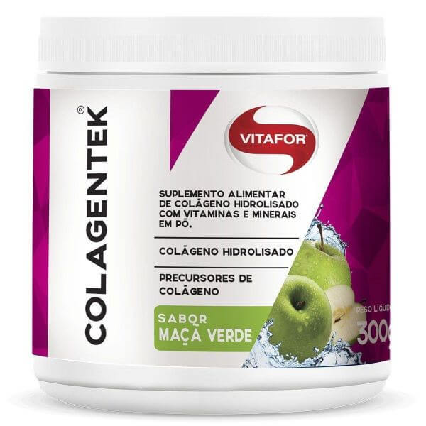 Colagentek Sabor Maçã Verde 300gr - Vitafor