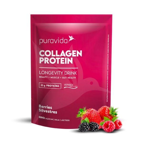 Collagen Protein Berries Silvestre 450gr - Pura Vida
