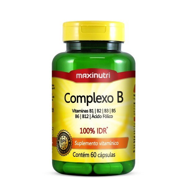 Complexo B 100% Idr 60 Cápsulas De 250mg  - Maxinutri