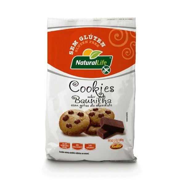 Cookies De Baunilha E Gotas Chocolate  Sem Glúten 180gr - Natural Life