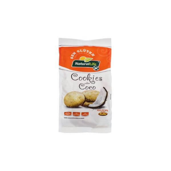 Cookies s/ Gluten sabor Coco 180g Natural Life