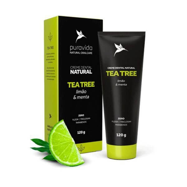 Creme Dental Tea Tree 120gr - Pura Vida