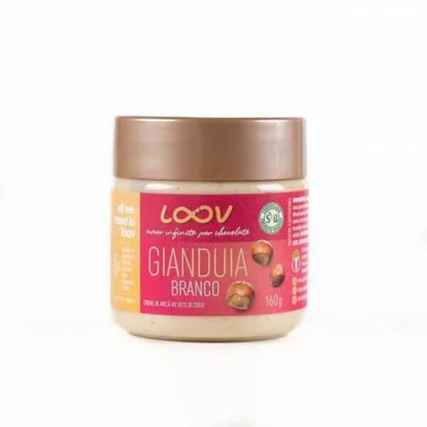 Creme Gianduia Branco de Avelas ao Leite de Coco 160g - Loov Chocolife