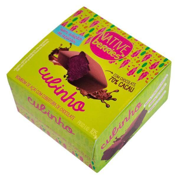 Cubinho Bombom de Açai com Chocolate - Native Berries