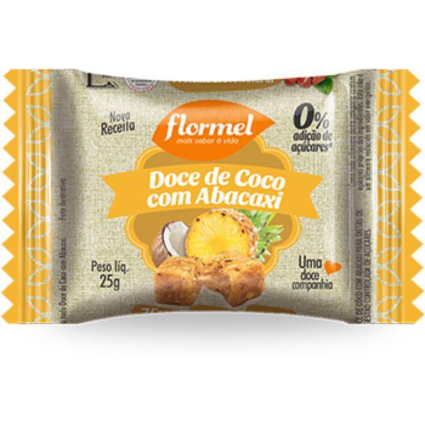 Doce de Abacaxi Com Coco Zero Açucar 25gr - Flormel