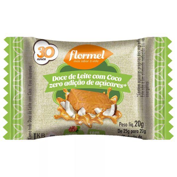 Doce De Leite Com Coco Zero Açúcar 25gr - Flormel