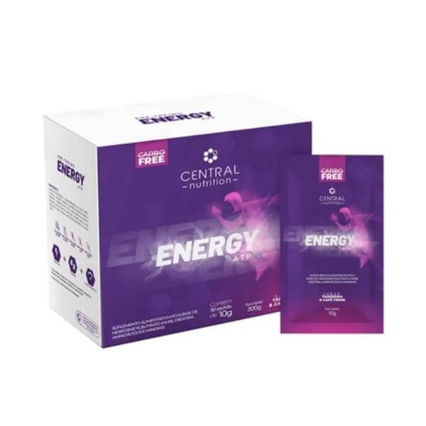 Energy ATP Sabor Tangerina e Café Verde Caixa com 30 Sachês de 10gr - Central Nutrition