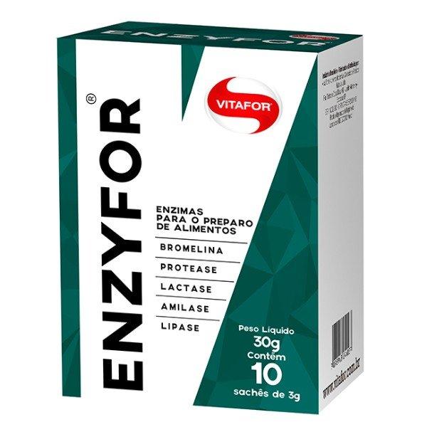 Enzyfor Enzimas Digestivas 10 Sachês De 3G - Vitafor
