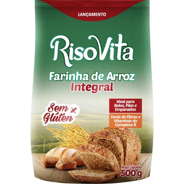 Farinha De Arroz Integral 500gr - Risovita