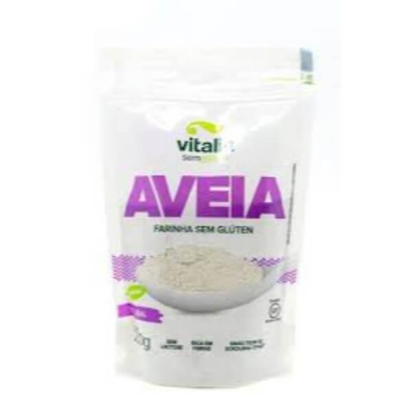 Farinha De Aveia Integral Sem Gluten 200gr - Vitalin