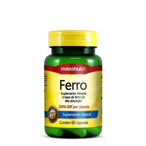 Ferro Quelato 100% Idr 60 Cápsulas De 14mg  - Maxinutri