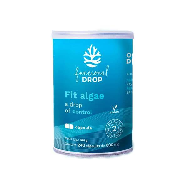Fiber Algae 240 Cápsulas - Ocean Drop - Produto P/ 2 Meses