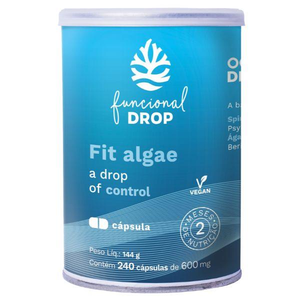 Fit Algae 240 Cápsulas - Ocean Drop - Produto P/ 2 Meses