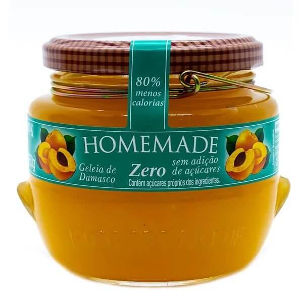 Geleia de Damasco Zero Acucar 250g Homemade
