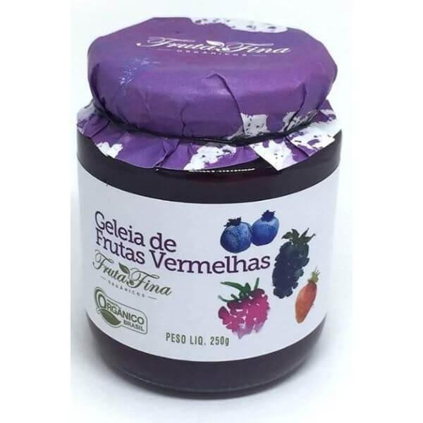 Geleia De Frutas Vermelhas Organicas 250g - Fina Fruta