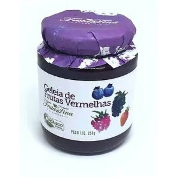 Geleia De Frutas Vermelhas Zero Açúcar Orgânico 250g - Fina Fruta