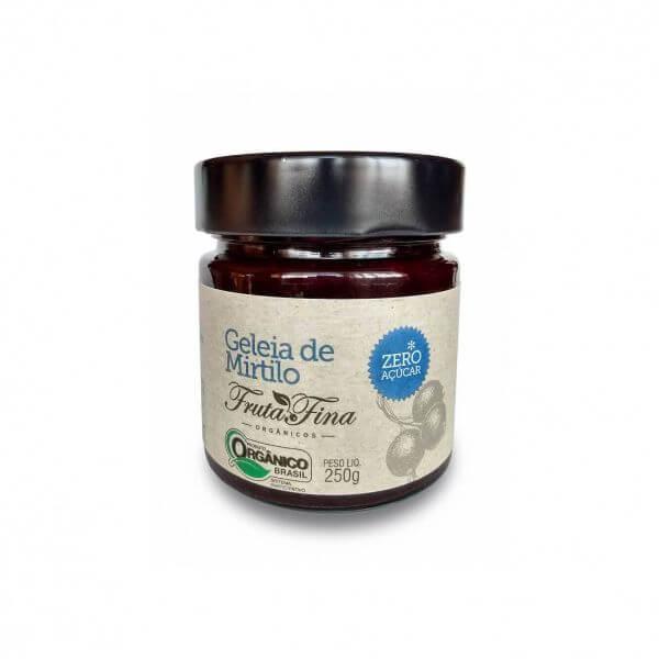 Geleia De Mirtilo Zero Açúcar Orgânico 250g - Fina Fruta