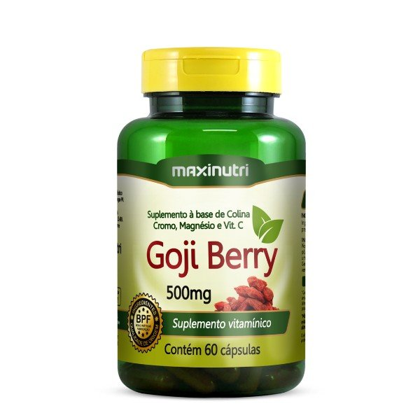 Gojiberry 60 Cápsulas De 500mg  - Maxinutri