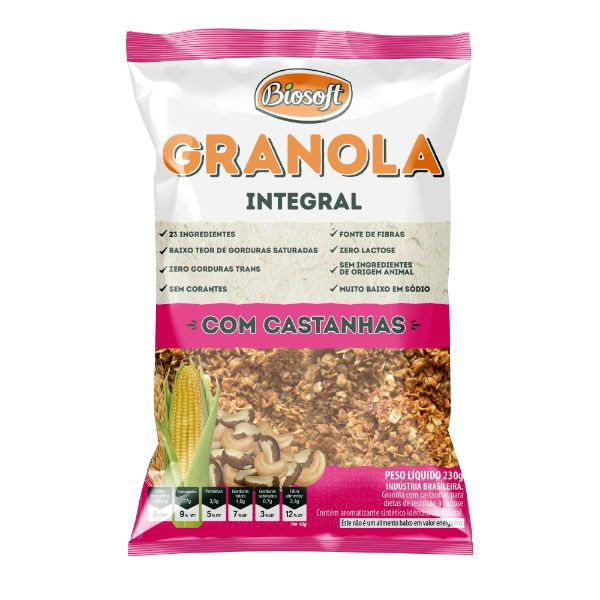 granola Com Castanhas 1Kg - Biosoft