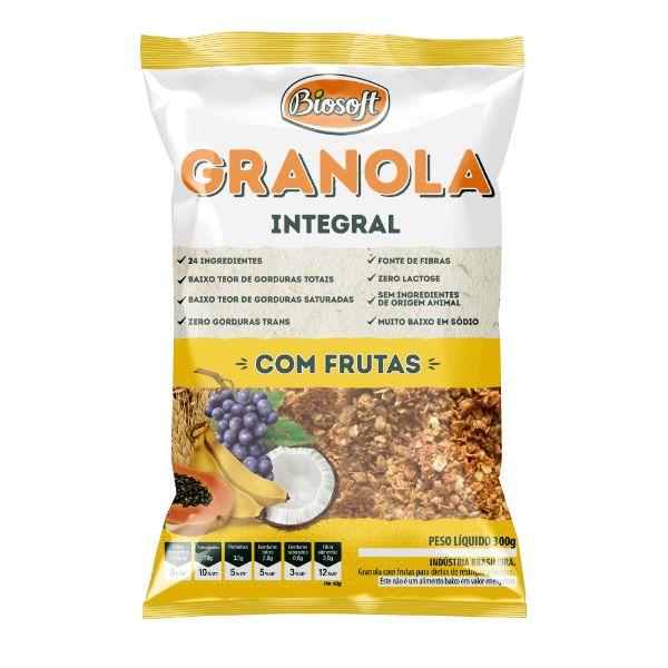 granola Com Frutas 300gr - Biosoft