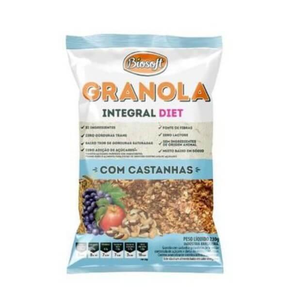 granola Diet Com Castanhas 1Kg - Biosoft