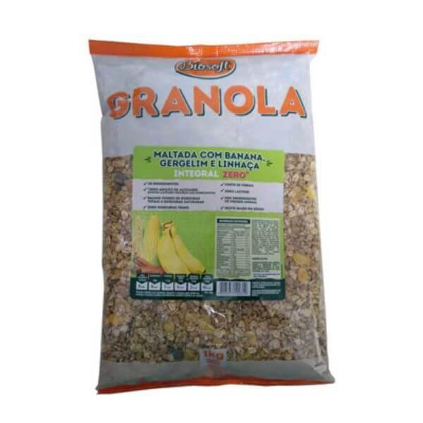 granola Maltada Com Banana Zero Açúcar 1Kg - Biosoft