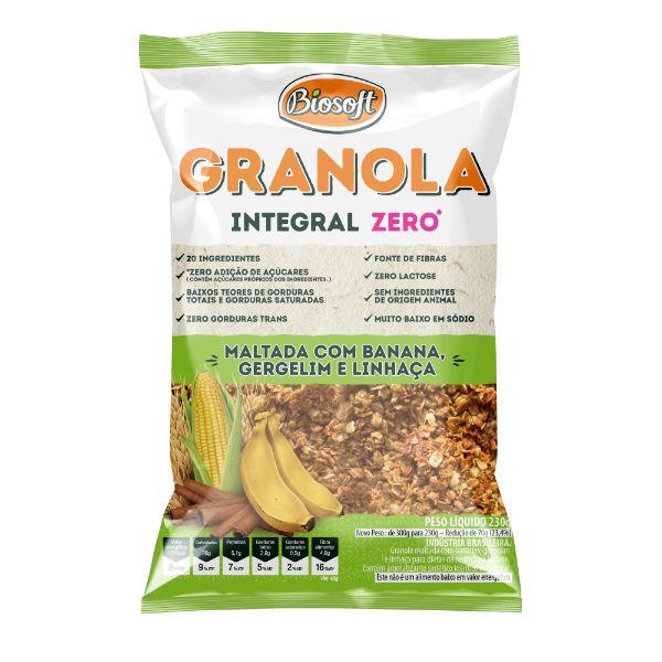 Granola Maltada Zero Açucar 230gr - Biosoft