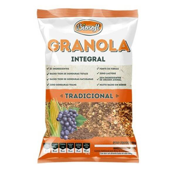 Granola Tradicional 1Kg - Biosoft