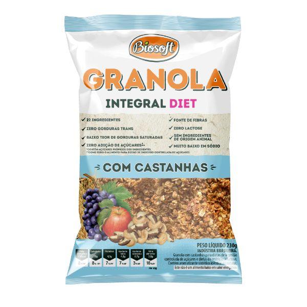 granola Tradicional Light Zero Açúcar 230gr - Biosoft