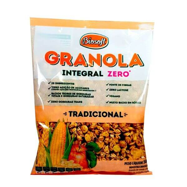 Granola Tradicional Zero 500gr - Biosoft