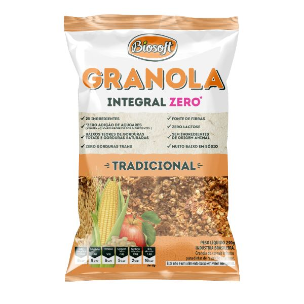 granola Tradicional  Zero Açúcar 1kg- Biosoft