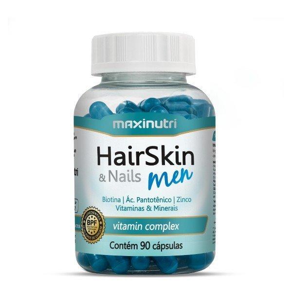 Hairskin Men 90 Cápsulas De 500mg  - Maxinutri