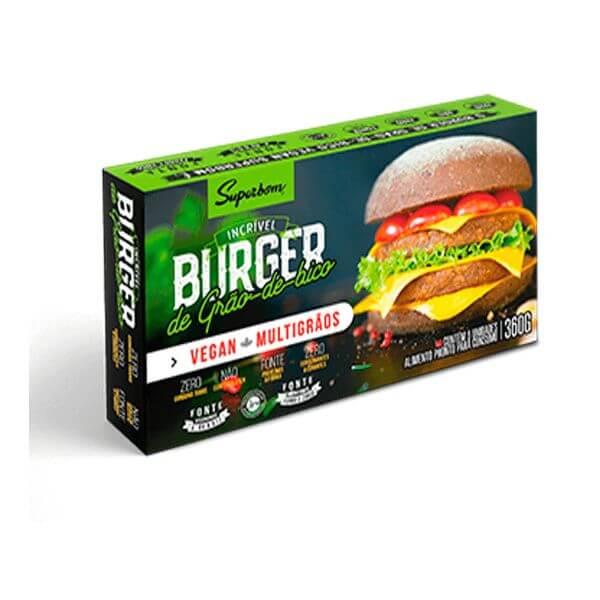 Hambúrguer de Grão de Bico 360gr - SuperBom