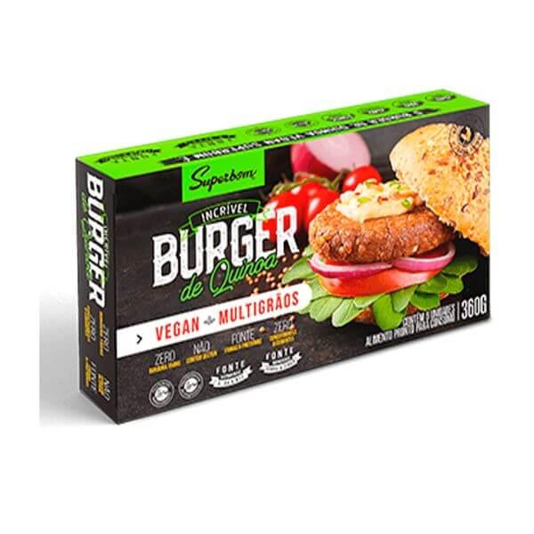 Hambúrguer de Quinoa 360gr - SuperBom