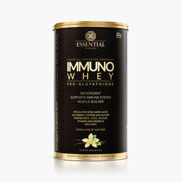 Immuno Whey Pro Glutathione Baunilha Lata 375g - Essential Nutrition