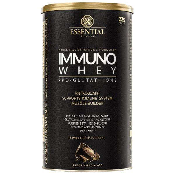 Immuno Whey Pro Glutathione Cacao Lata 465gr - Essential Nutrtion