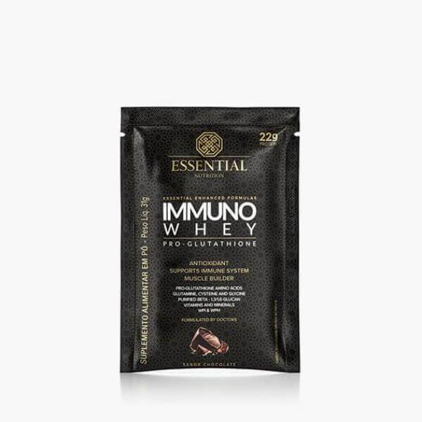 Immuno Whey Pro Glutathione Cacao Sachê 25g - Essential Nutrtion