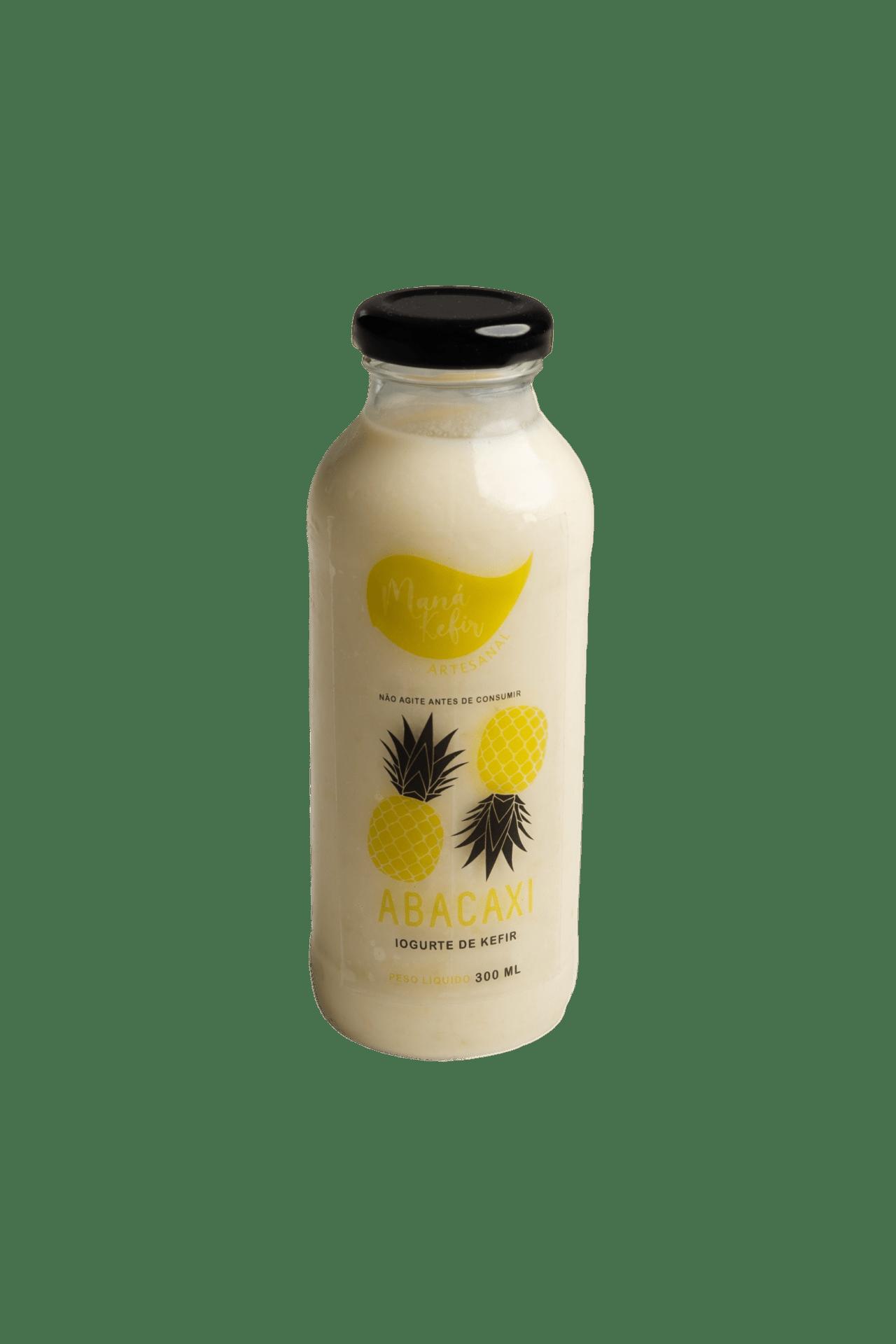 Iogurte De Kefir Abacaxi 300ml - Mana Kefir