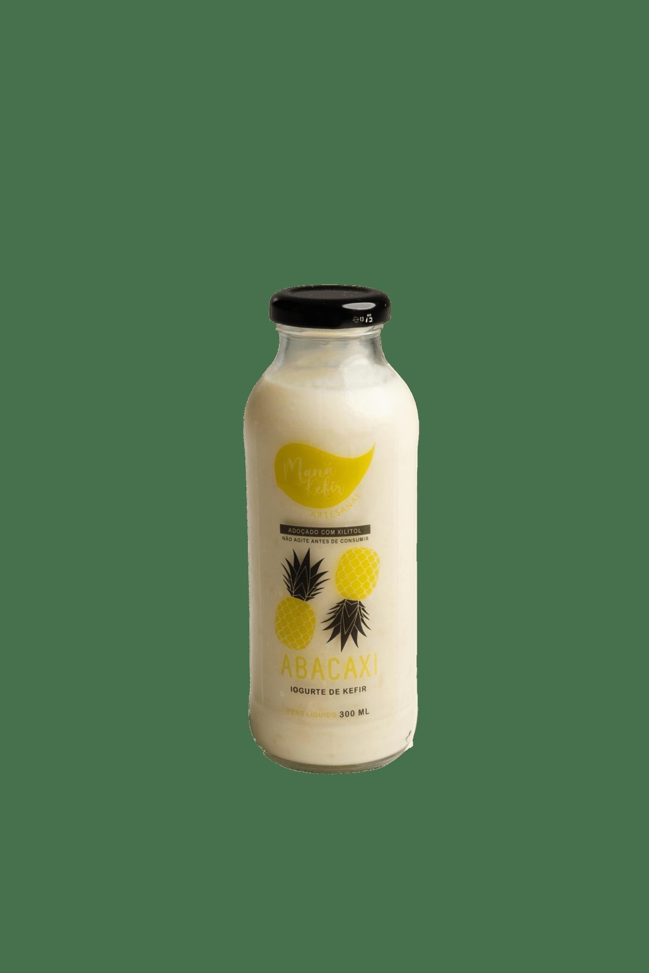 Iogurte De Kefir Abacaxi Com Xilitol 300ml - Mana Kefir