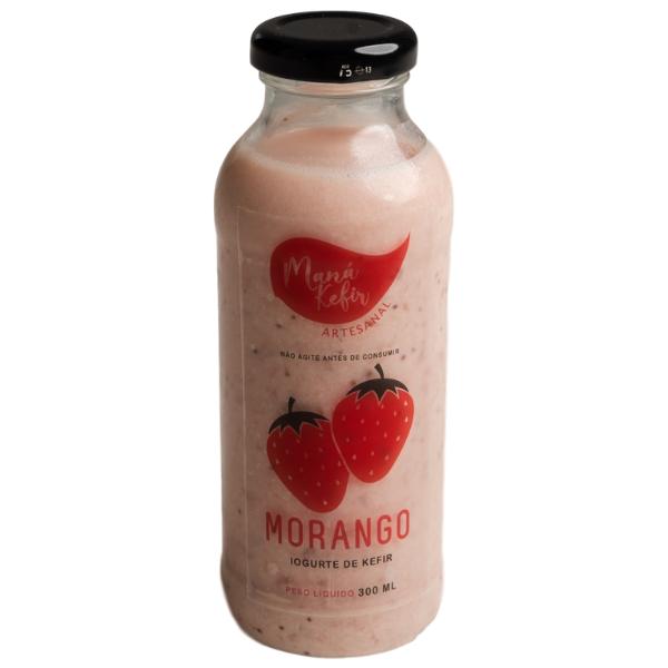 Iogurte De Kefir Morango 300ml - Mana Kefir